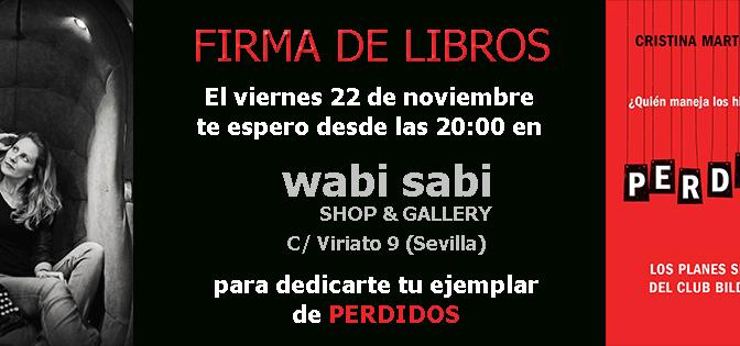 Cristina Martín Jiménez firmará PERDIDOS en Wabi Sabi