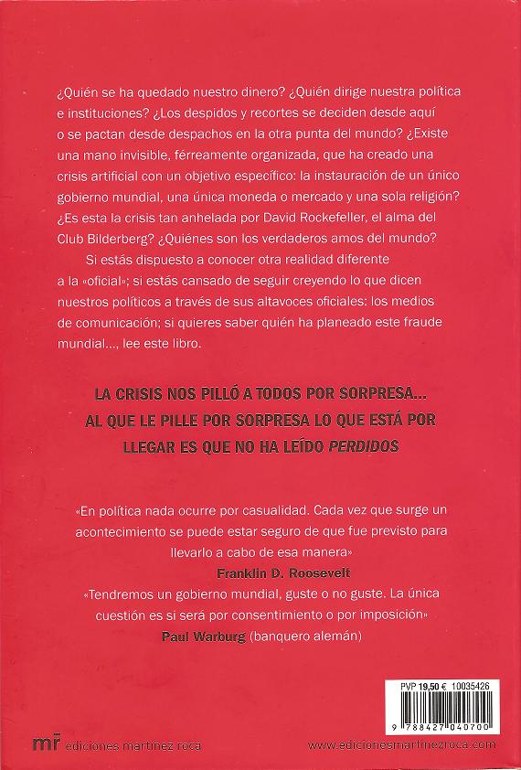 Cristina Martin Jimenez Perdidos Club Bilderberg Contraportada