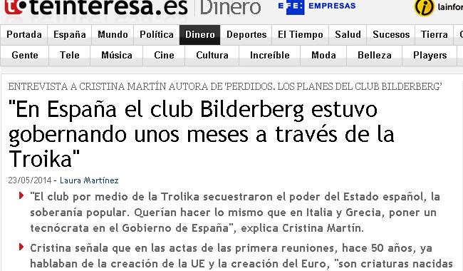 En España el Club Bilderberg estuvo gobernando unos meses a través de la Troika