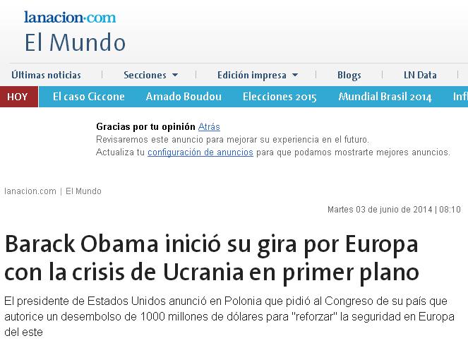 Barack Obama inició su gira por Europa con la crisis de Ucrania en primer plano