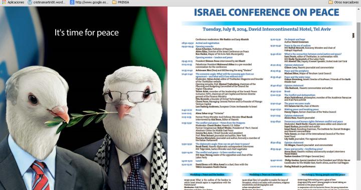 conferencia de paz israel