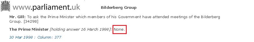 Tony Blair Club Bilderberg Parlamento Británico