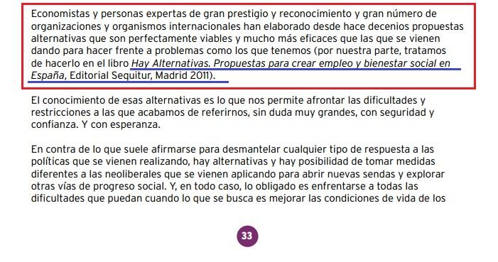 Página 33 programa económico de Podemos