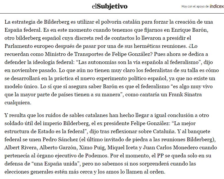 que piensa bilderberg sobre la independencia de Cataluña 1