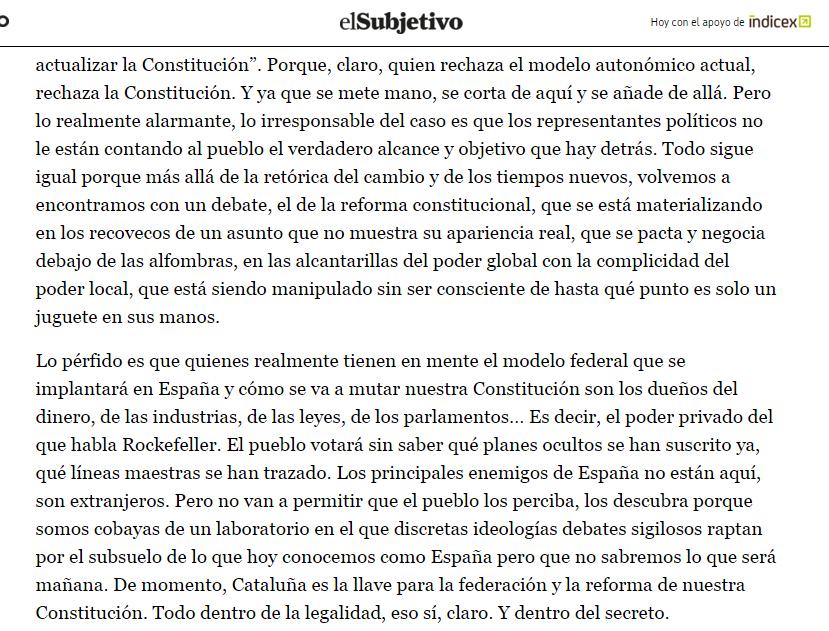 que piensa bilderberg sobre la independencia de Cataluña 2