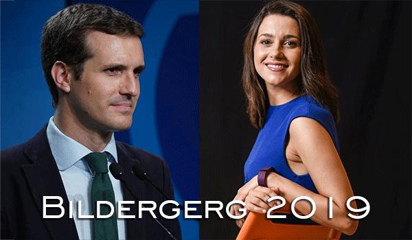 Pablo Casado e Inés Arrimadas a Bilderberg 2019