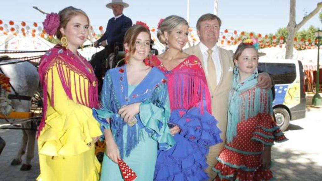 Reyes de Holanda en feria de Sevilla
